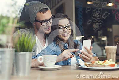 Young Couple At Cafe - Download From Over 50 Million High Quality Stock Photos, Images, Vectors. Sign up for FREE today. Image: 40675054