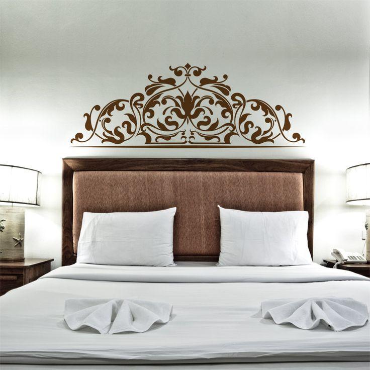 Les 25 meilleures id es concernant chambre glamour sur - Tete de lit stickers baroque ...