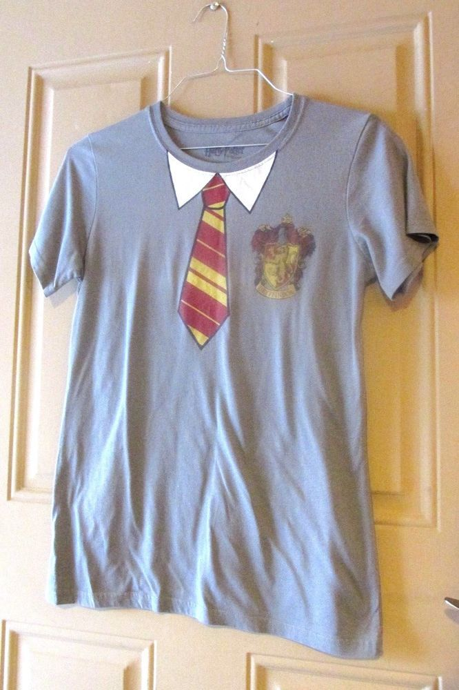 Harry Potter The Deathly Hallows Gryffindor Theme Tee Shirt Large