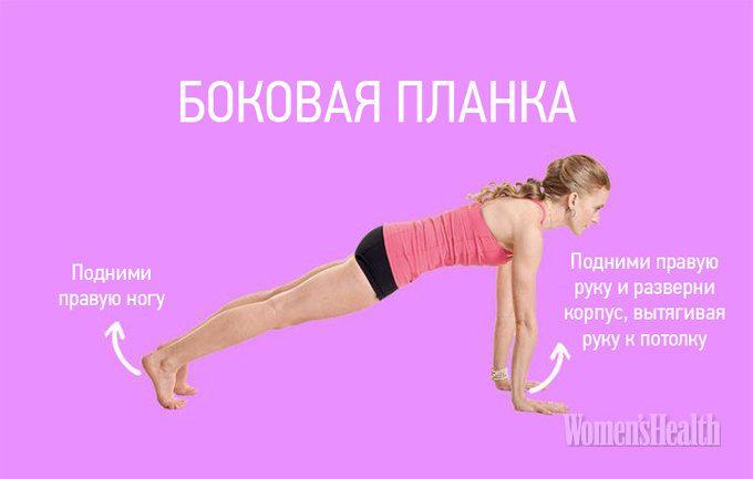 9 простых планок для идеального тела   Фитнес   Журнал для женщин «Women's Health»