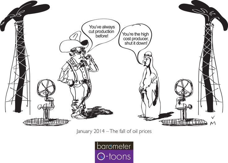 Q4 Q-toon- The fall of oil prices. Brought to you by Barometer Capital Management