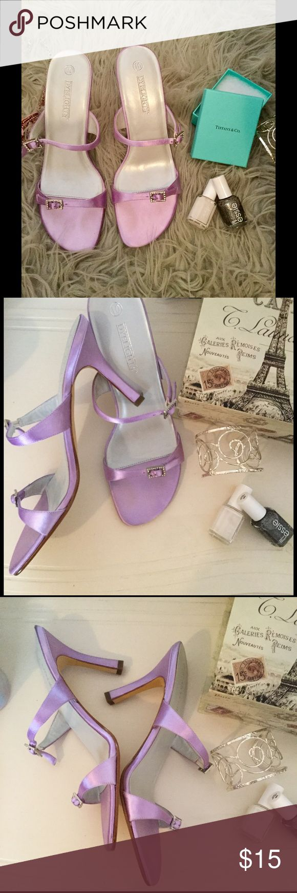 Lavender Dyelights Heels Beautiful shade and perfect pop of color for your closet. In amazing condition!                                                                                                                                                                                                                                 10% of the proceeds of this item go to HOWMS.ORG, a charity devoted to building homes for orphans, widows, and the elderly in Malawi, Africa.(To read more please check…