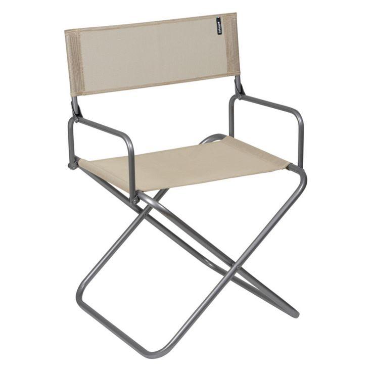 Outdoor Lafuma Batyline Fabric Folding Aluminum Directors Beach Chair - Set of 4 - LFM1346-3862
