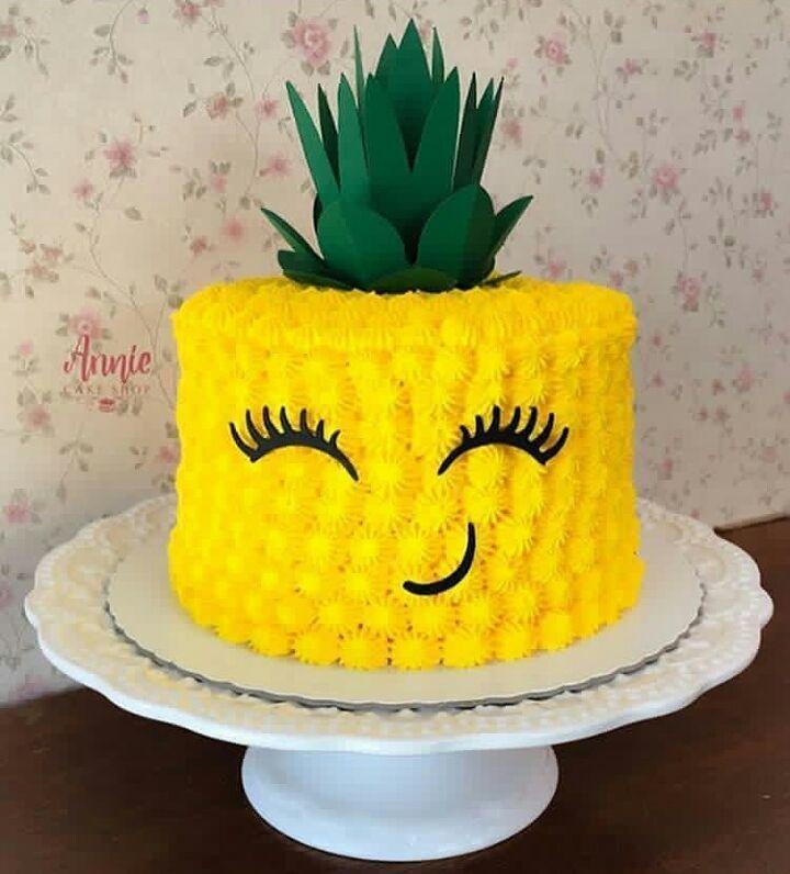 Stand Tall Like A Pineapple Cake Design Via Anniecakeshop