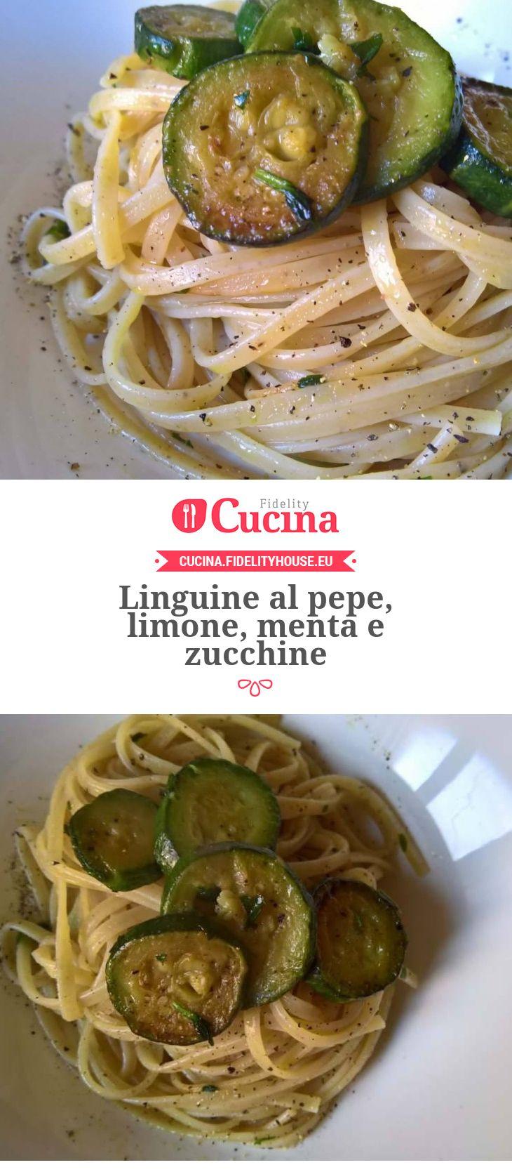 Linguine al pepe, limone, menta e zucchine della nostra utente Francesca. Unisciti alla nostra Community ed invia le tue ricette!