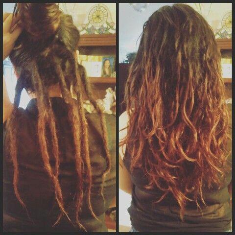 Partial dreads / half dreads