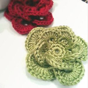 Wagon Wheel Crochet Flower Pattern