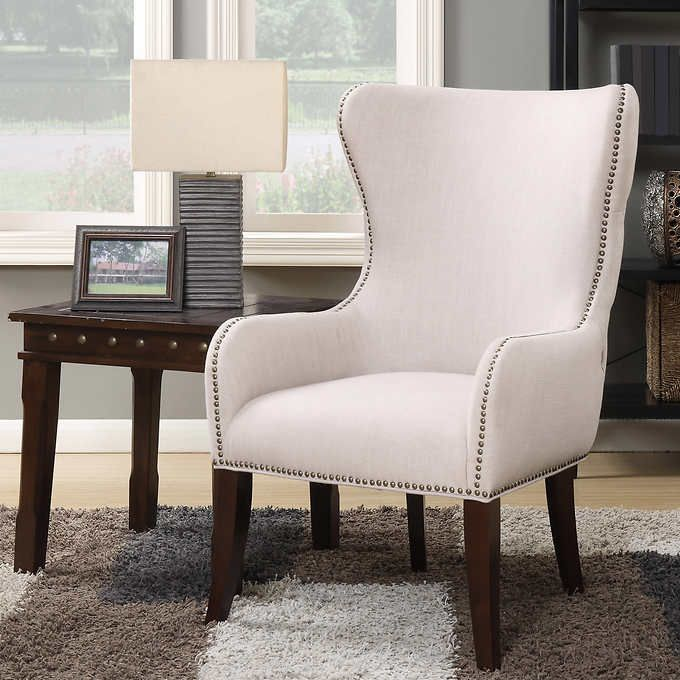 Costco Living Room Chairs: Laurel Hill Fabric Wingback Accent Chair