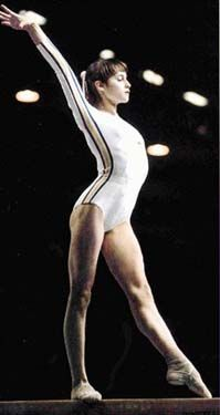 Nadia Comaneci...I wanted to be her when I was little. Who am I kidding? I still do!