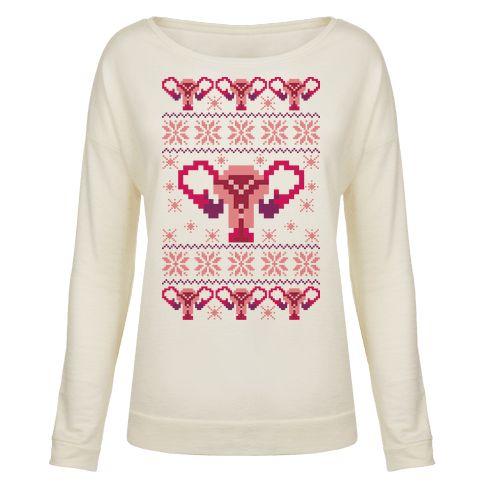 Uterus Sweater Pattern Pullover