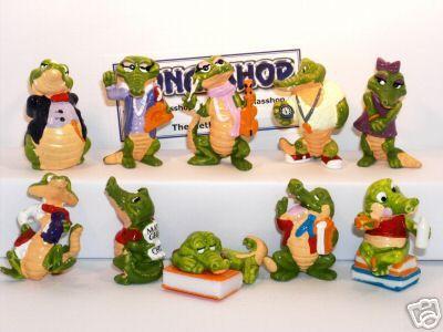Les jouets kinder : les crocos.souvenirs d'enfance. j'ai encore.
