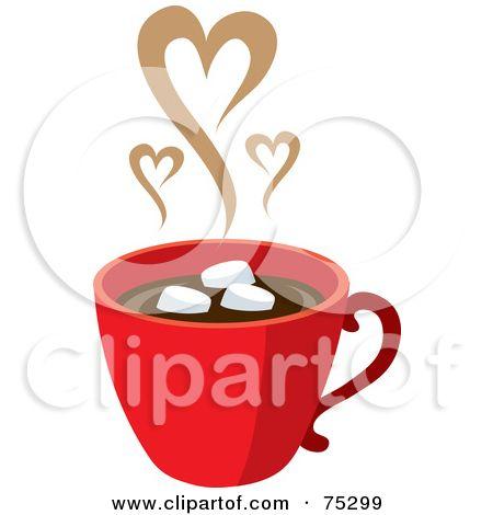 hot chocolate mug clipart. clipart happy marshmallows floating on hot chocolate - royalty . mug