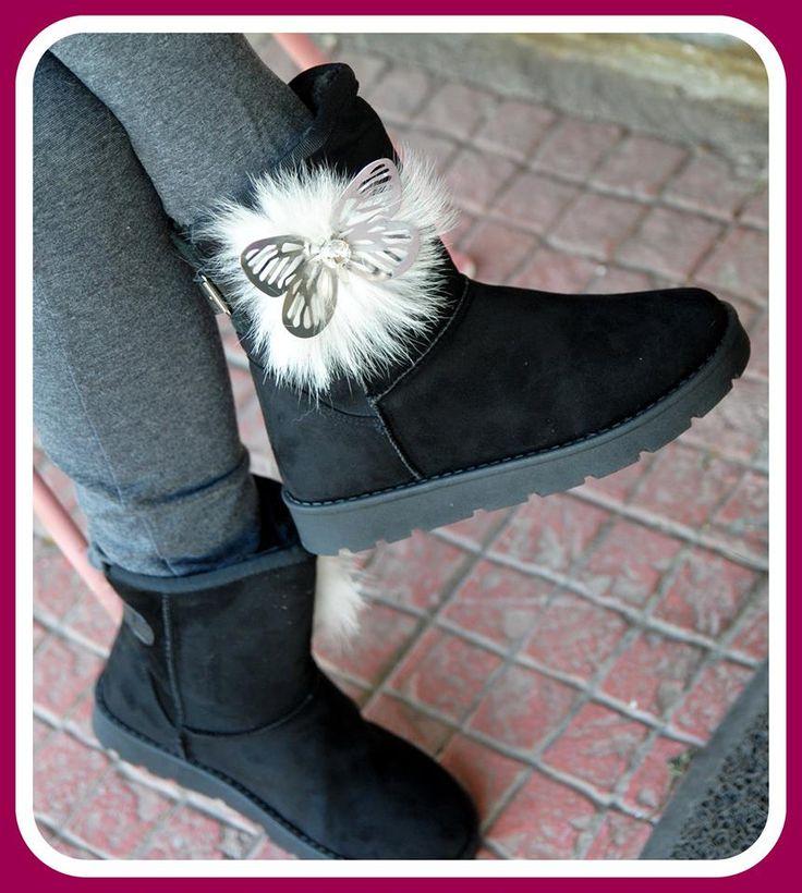 χειροποιητα μποτακια στολισμενα με αριστης ποιοτητας γουνα ,πεταλουδες και κρυσταλλα διαθεσιμα χρωματα μαυρο και μπεζ διαθεσιμα νουμερα 36-41 τιμη 35ε #fashionista #storiesforqueens #handmadecollection #handmade #fashion #μοδα #lovemyboots