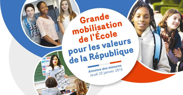 Onze mesures pour une grande mobilisation de l'École pour les valeurs de la République - Ministère de l'Éducation nationale, de l'Enseignement supérieur et de la Recherche