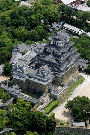 Himeji Castle is a hilltop Japanese castle complex located in Himeji  in Hy  go Prefecture  Japan  The castle is regarded as the finest surviving example of prototypical Japanese castle architecture