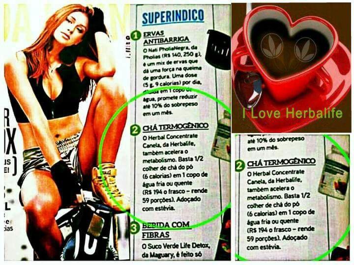 """Nosso CHÁ VERDE HERBALIFE sendo indicado pela revista """"BOA FORMA""""! Quem usa sabe que os benefícios são incríveis, não tem como não se APAIXONAR!☕️ #chaverdeherbalife #canela #original #detox #desincha #challenge30days #horah #herbalife #grupo #viver #bem  #gleide"""