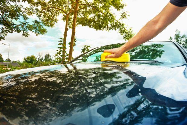 lavar todo el coche con un solo vaso de agua - Ecocosas