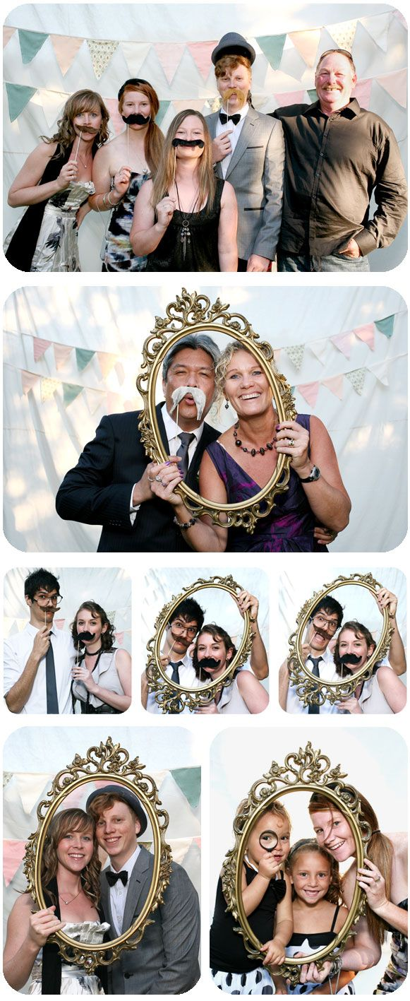 Love this idea for a fun photo booth. or as a guest book. Take a picture of the guests as they come in