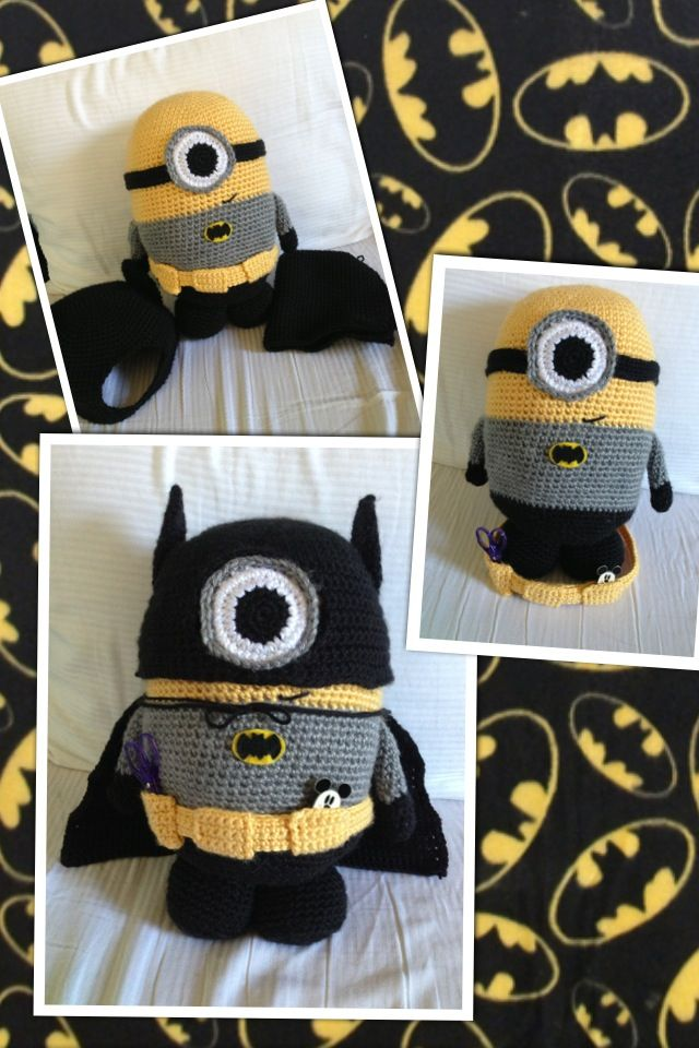 Batman minion amigurumi crochet doll despicable me diy craft  Etsy.com/shop/knot2us