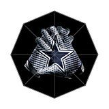 LaHuo NFL Dallas Cowboys Logo Football Team Logo Custom Design Foldable Umbrella Rain Umbrella Wind Resistant Floding Travel Umbrella