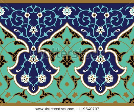 Shahroud Seamless Border Three by Azat1976, via Shutterstock