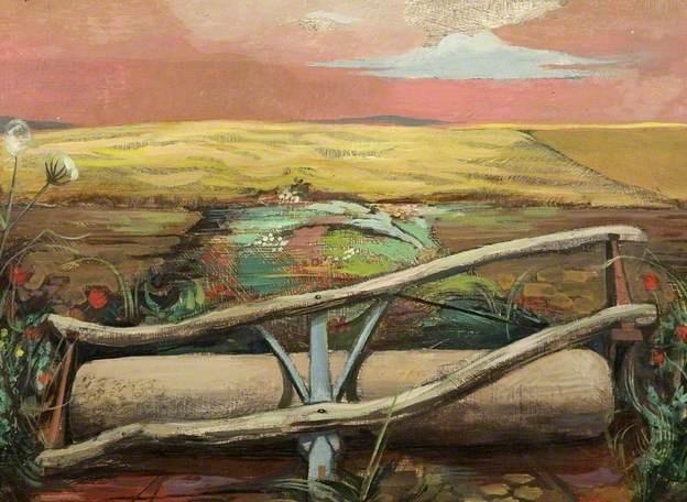 Michael Ayrton. 'Field Roller'. Oil on panel. 1946.