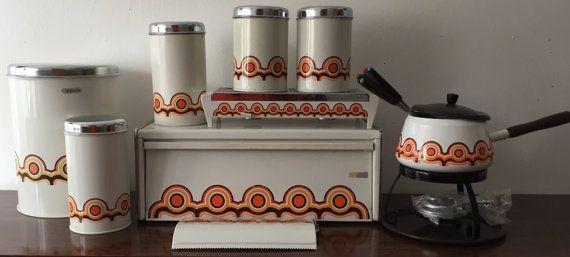 Brabantia retro keuken set vintage rusk  kitchen set type: Bayon Space Age design