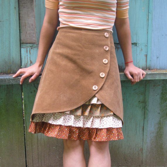 against the grain ruffle front skirt...this would be fun to make.