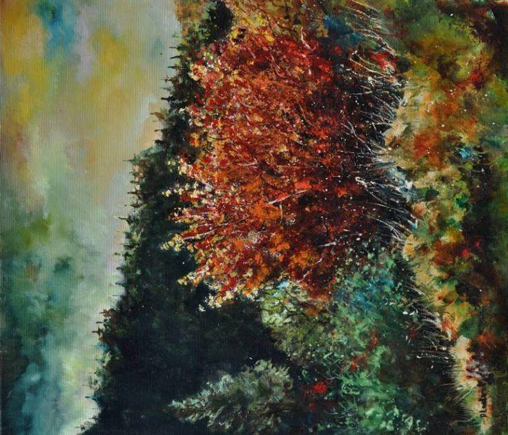 "Saatchi Art Artist Pol Ledent; Painting, ""Autumn 78"" #art"