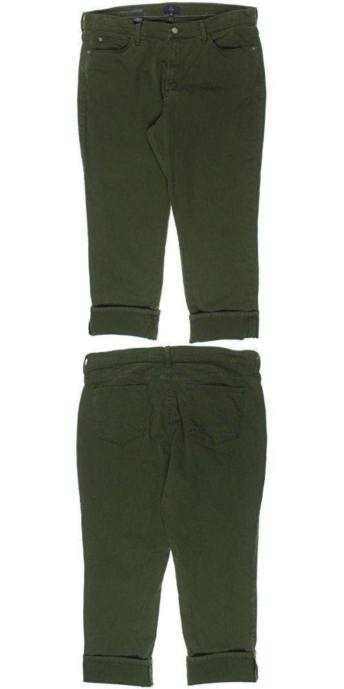 NYDJ Women's Dayla Wide Cuffed Capri Jeans In Colored Bull Denim, Fatigue, 18