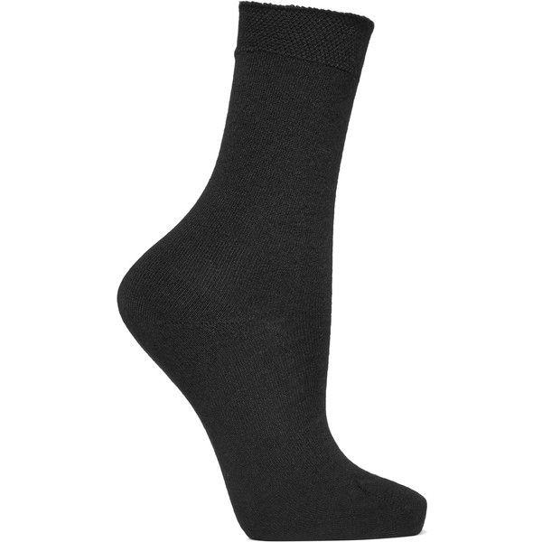 Falke No.1 cashmere-blend socks (€57) ❤ liked on Polyvore featuring intimates, hosiery, socks, black, falke hosiery, falke, falke socks, cashmere blend socks and reinforced toe socks