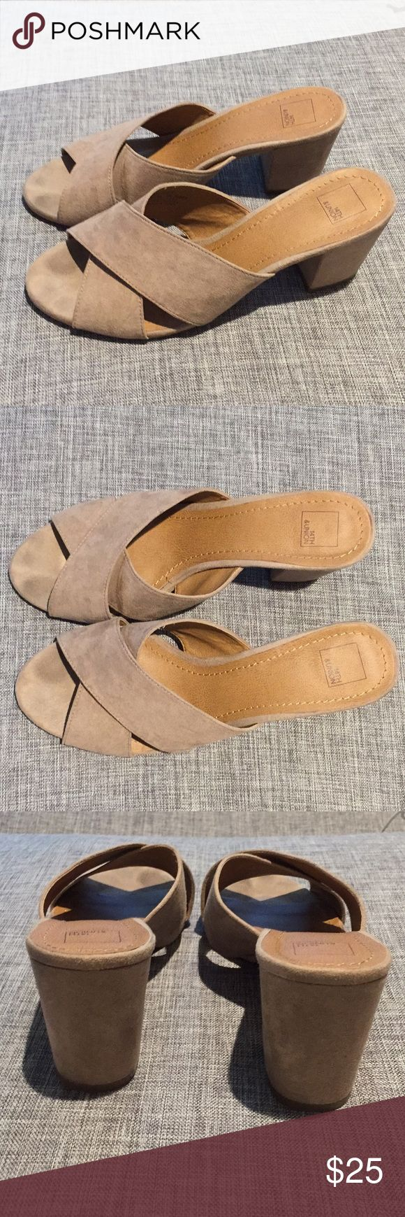 Brown Suede Crossover Sandals Adorable brown suede crossover sandals by 14th and Union that o purchased from Saks Off Fifth. These go with anything and have a heel of about 1-1.5 inches. So cute and easy to wear! Only worn a handful of times! 14th & Union Shoes Sandals
