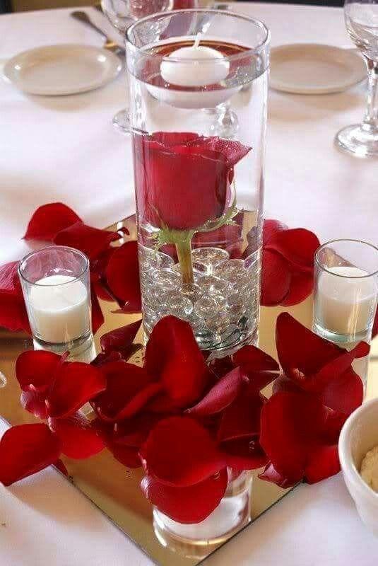 Kaars met roos