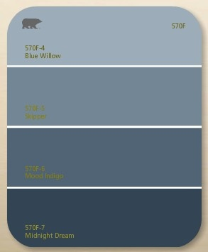 Behr Paint Chips Blue
