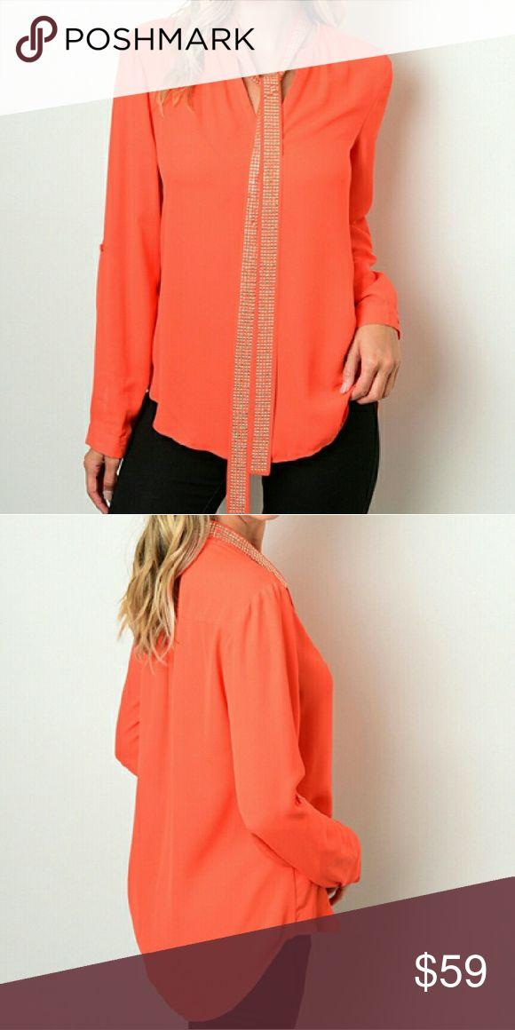 Orange Blouse Pinterest 106