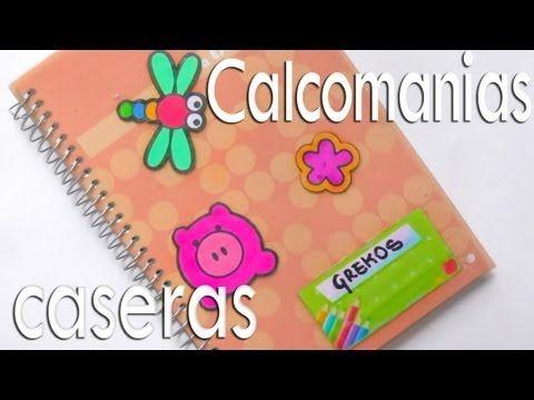Pegatinas calcomanias caseras para decorar cuadernos - Libros para decorar ...