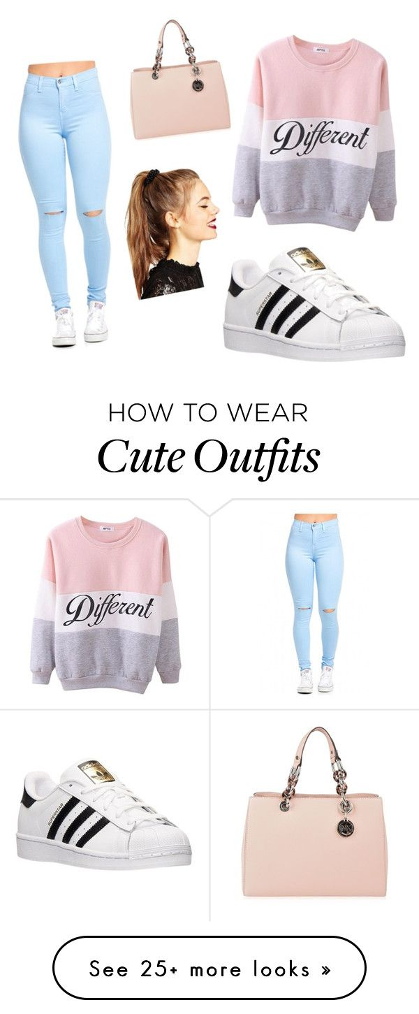 """Outfit girly"" by noeliapglez on Polyvore featuring adidas, MICHAEL Michael Kors, ASOS, women's clothing, women, female, woman, misses and juniors"