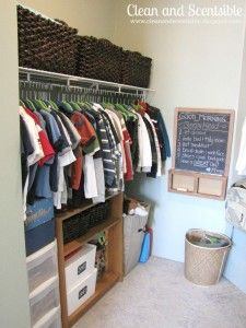 Organizing the Kids Closets - Clean and Scentsible