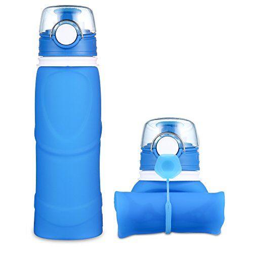 Nuova offerta in #assortito : JerryBox Acqua Bottiglia Pieghevole Silicone - 750 ml per uso medico priva di BPA approvata dalla FDA bottiglia a perfetta tenuta in silicone pieghevole ideale per lo sport attività all'aperto viaggio campeggio picnic - Blu a soli 1000 EUR. Affrettati! hai tempo solo fino a 2016-11-10 23:34:00