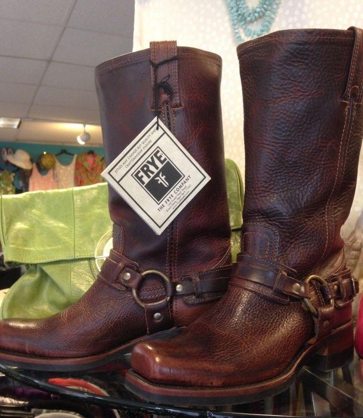Women's Frye Chestnut 12R Harness Boot Size 7.5 M NWT & Box #Frye #HarnessBoot