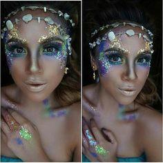 Glamorous mermaid @mua_eliana #halloween #halloweenmakeup #halloween2015…