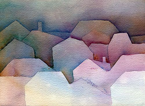 negative watercolour painting