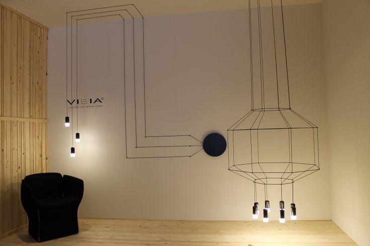 Prachtige verlichting van Vibia - Eikelenboom. - gezien bij #DesignDistrict 2014