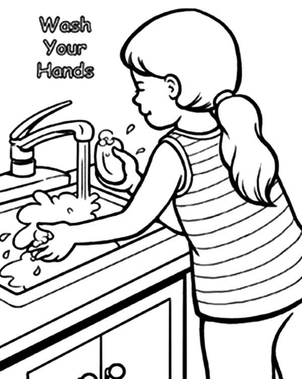 Top Rated Hand Washing Coloring Pages Images With Images