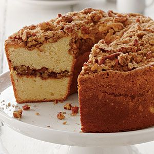 "Coffee Cake Pound Cake from MyRecipes.com (Our Favorite Review: ""Moist flavorful pound cake, with the enticing flavors of a coffee cake. YUM!""): Poundcak, Coff Cakes, Southern Living, Coffee Cakes, Food, Sweet Treats, Pound Cakes Recipes, Cakes Pound, Desserts Cakes"