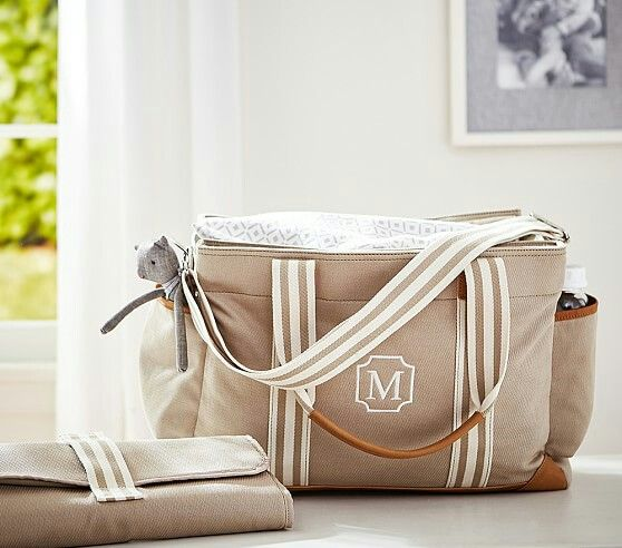 A nice, gender neutral diaper bag from Pottery Barn Kids.