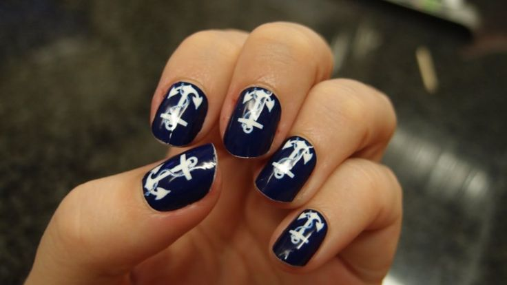 Minx Nails UK For The Best Nail Design : White Anchor Nails Ar Design Exciting Minx Nails UK
