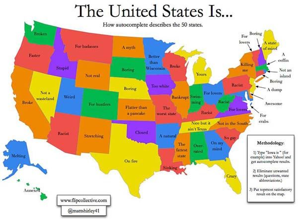 22.) The US according to a search engine autocomplete.