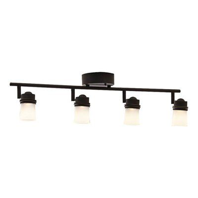 allen + roth 4-Light Bronze Dimmable Integrated LED Fixed Track Light Kit
