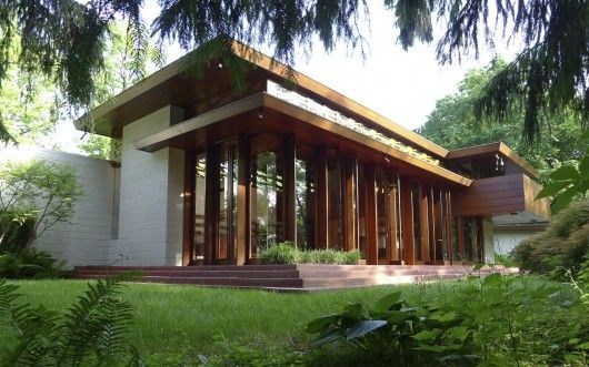 A rare house from Frank Lloyd Wright's Usonian house period has been saved by the Crystal Bridges Museum in Arkansas.
